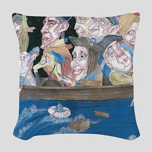 FULL SPEED AHEAD Woven Throw Pillow