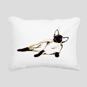 Laid Back Siamese 4000 T Rectangular Canvas Pillow