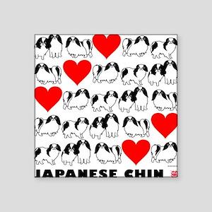 "Japanese Chin Square Sticker 3"" x 3"""