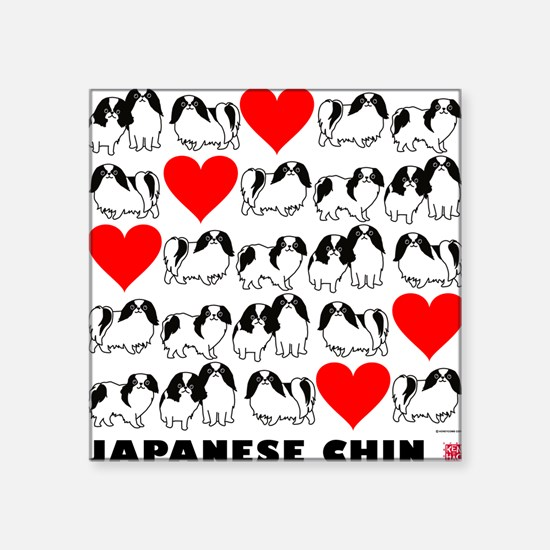 "Japanese Chin Square Sticker 3"" x 3"""