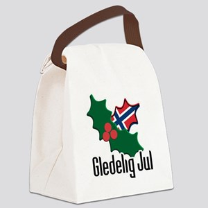 Norway Christmas Gledelig Jul Canvas Lunch Bag