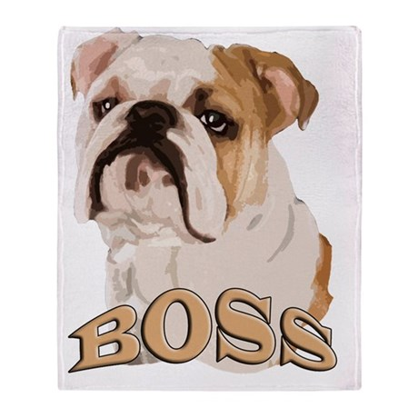 english bulldog blanket english bulldog boss throw blanket by admin cp1797247 1533