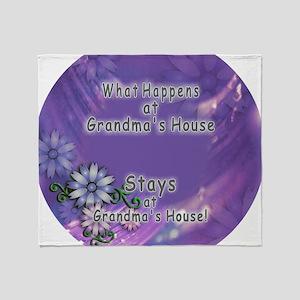 Grandmas House Throw Blanket