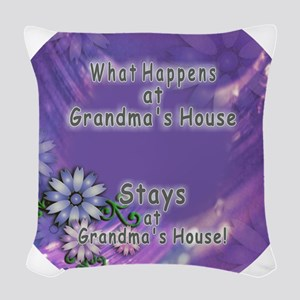 Grandmas House Woven Throw Pillow