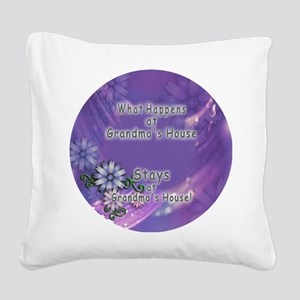 Grandmas House Square Canvas Pillow