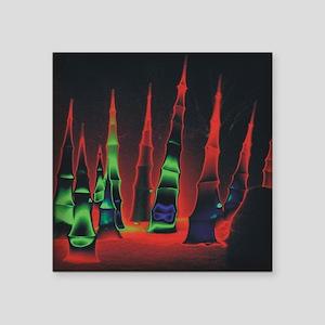 """Neon redtips box Square Sticker 3"""" x 3"""""""
