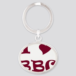 I Heart BBC Oval Keychain