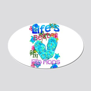 Life Is Better In Flip Flops Wall Decal