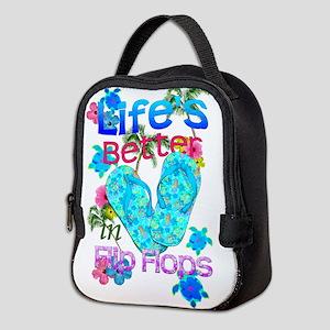 Life Is Better In Flip Flops Neoprene Lunch Bag