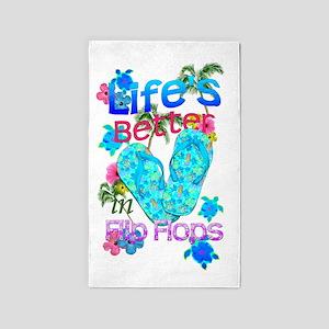 Life Is Better In Flip Flops 3'x5' Area Rug