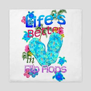 Life Is Better In Flip Flops Queen Duvet