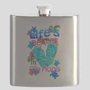Life Is Better In Flip Flops Flask