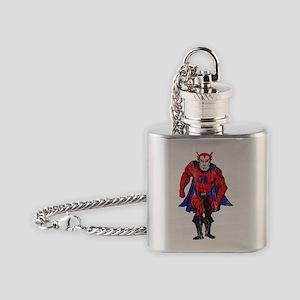 2-hero color vintage Flask Necklace