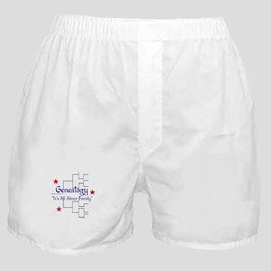 Family Tree Chart Boxer Shorts