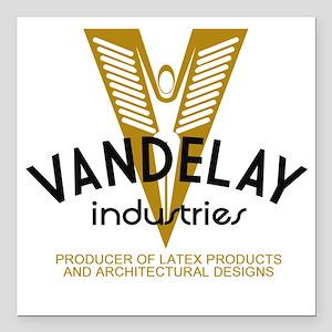 "VandelayId Square Car Magnet 3"" x 3"""