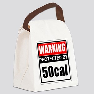 Warning 50cal Canvas Lunch Bag