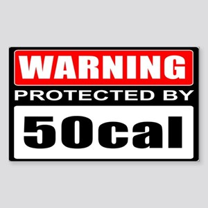 Warning 50cal Sticker (Rectangle)
