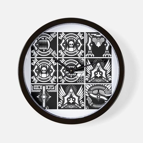 CG Logo Indigenous W Wall Clock