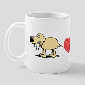 Love a Lab-yellow-wide Mug