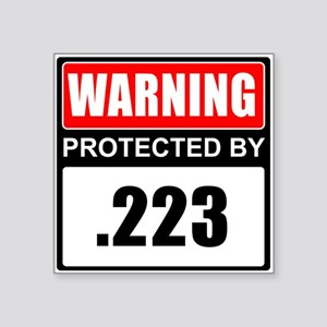Warning .223 Sticker