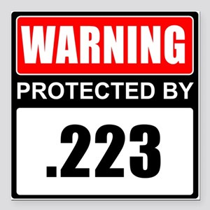 "Warning .223 Square Car Magnet 3"" x 3"""