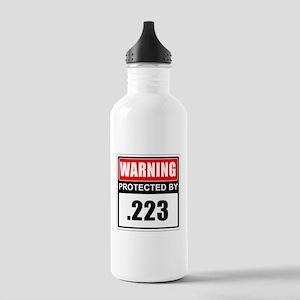 Warning .223 Water Bottle