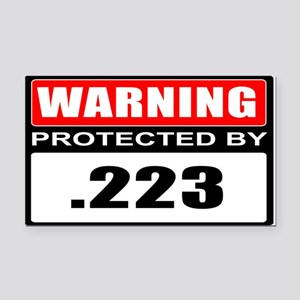 Warning .223 Rectangle Car Magnet