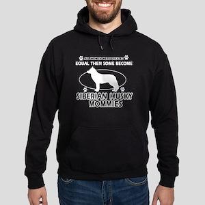 Become Siberian husky mommy designs Hoodie (dark)