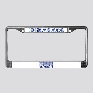 MCNAMARA University License Plate Frame