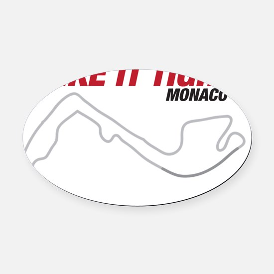 MONACO Oval Car Magnet