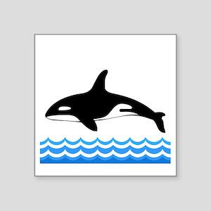 "Tilly -blk Square Sticker 3"" x 3"""