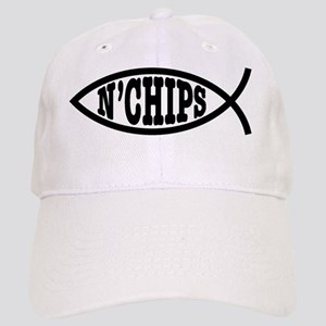 fish_bk_oval_sticker Cap