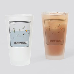 pool party tile Drinking Glass