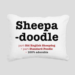 sheepadoodle Rectangular Canvas Pillow
