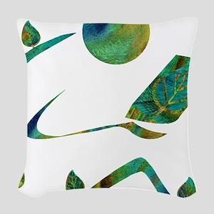 2-GreenReader Woven Throw Pillow