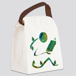 2-GreenReader Canvas Lunch Bag