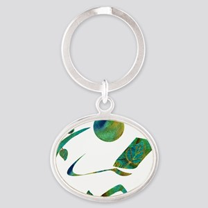 2-GreenReader Oval Keychain