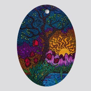 Tree by Christopher Blosser Oval Ornament