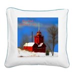 Big Red Lighthouse, Holland, Square Canvas Pillow