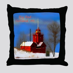 Big Red Lighthouse, Holland, MI Throw Pillow