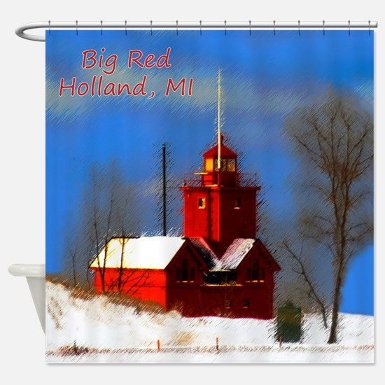 Big Red Lighthouse, Holland, MI Shower Curtain
