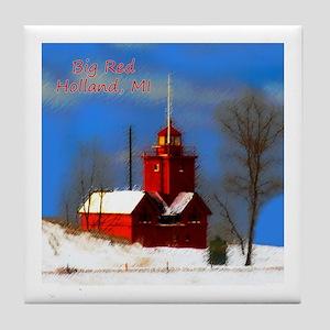 Big Red Lighthouse, Holland, MI Tile Coaster