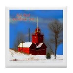 Big Red Lighthouse, Holland, MI Tile Coaster