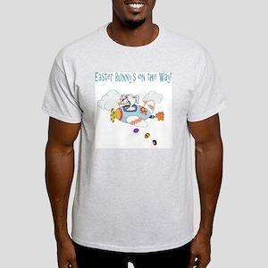 Easter Bunny Plane Kids Light T-Shirt