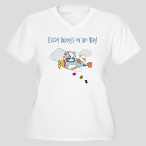 Easter Bunny Plan Women's Plus Size V-Neck T-Shirt