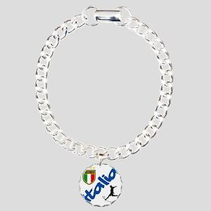 italian soccer Charm Bracelet, One Charm
