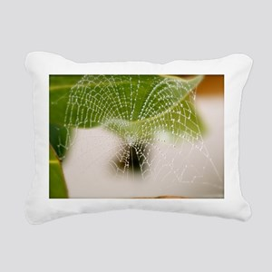 in the heart of a web Rectangular Canvas Pillow
