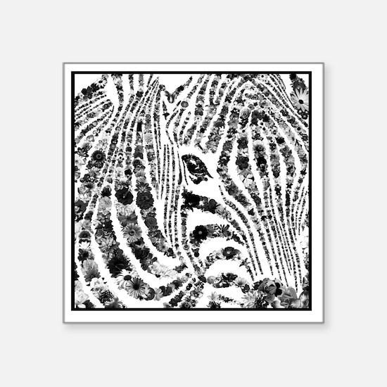 "zebra of life Square Sticker 3"" x 3"""