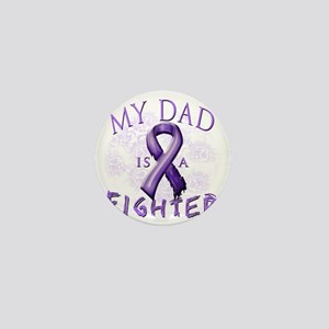 My Dad Is A Fighter Purple Mini Button