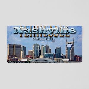 nashvillepostcardCROP Aluminum License Plate